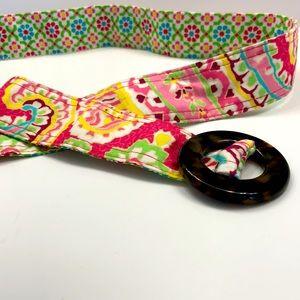 EUC Vera Bradley reversible belt - multi colour